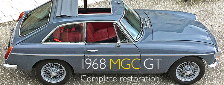 1968 MGC GT with overdrive for sale