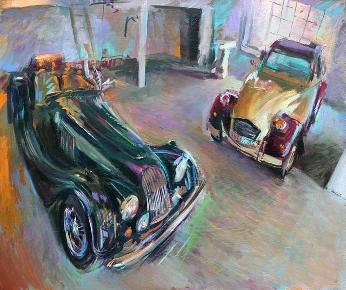 News artist rob pointon paints classic cars for Garage citroen montaigu