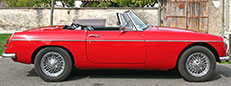 Hire a MGB in France