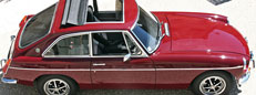 1973 MGB GT for sale in Damask Red